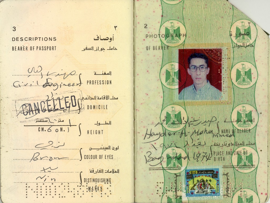 Hydar Abdulilah Mohammed Al-Dewachi: Iraqi national, born in Baghdad, 1974, an engineer, of 1 meter 60cm. height, brown eyes and no distinguishing marks.