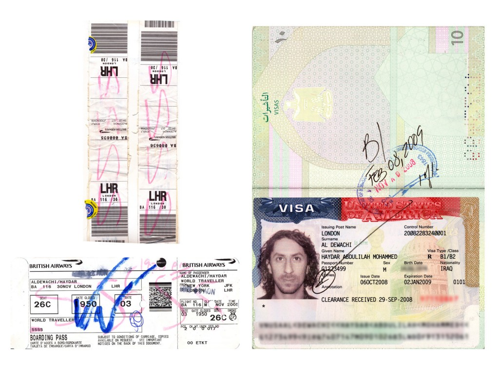 After two months wait, and with a supporting letter from Microsoft, I got a visa to visit the USA. On my way out from John Kennedy Airport, my boarding pass and luggage strips got marked with SSSS for Super Special Security Search.
