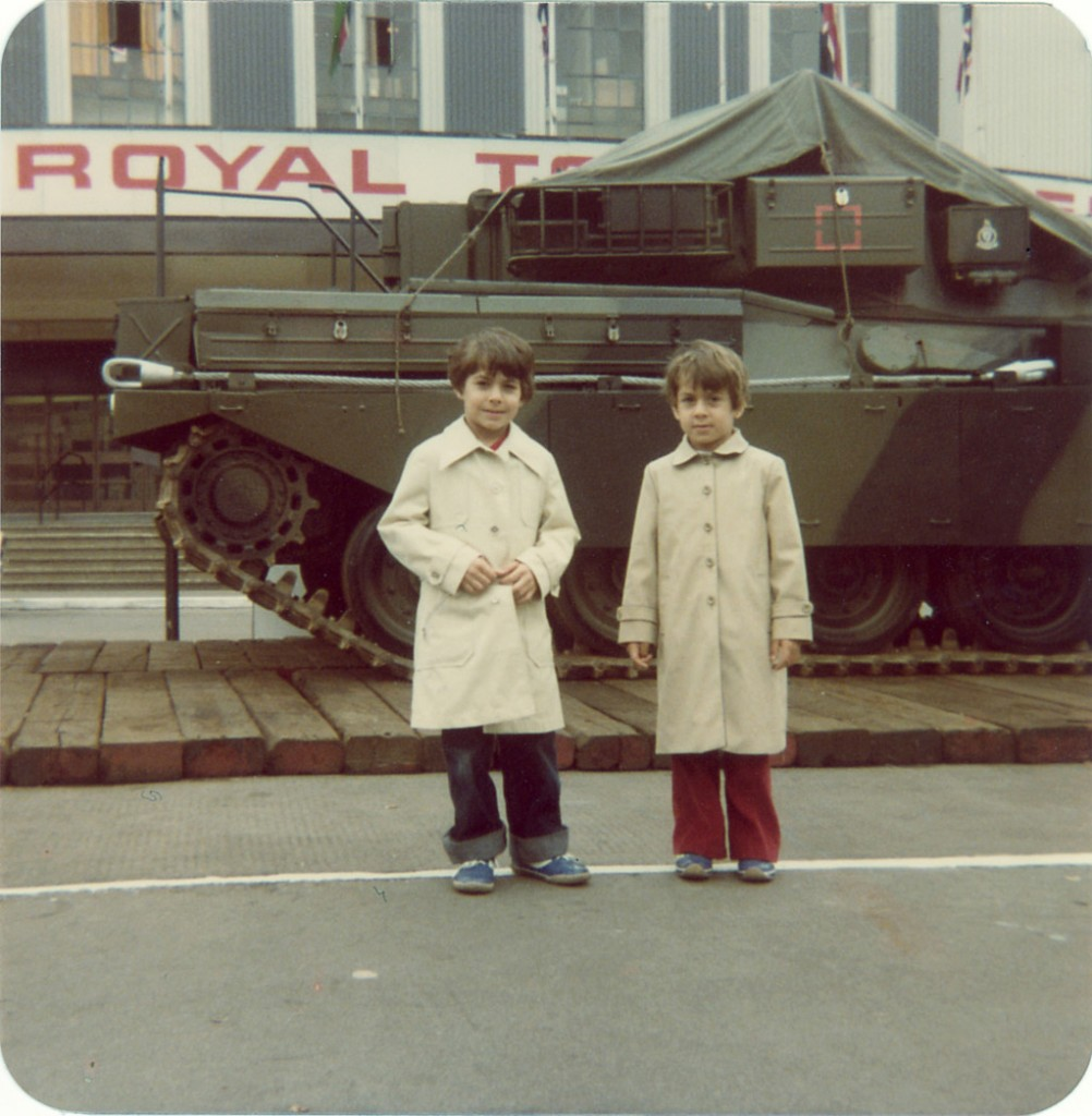 My brother, Omar, and I in London, 1980. Today Omar is Canadian and I am British.