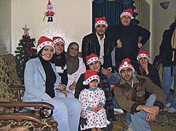 Muslims Celebrate Christmas.Photograph Reading Hydar Dewachi
